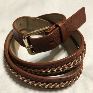 Cole Haan brown leather gold chain med women